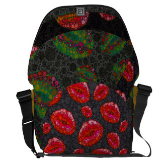 Sassy Lips Abstract Commuter Bags