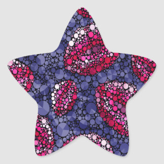 Sassy Lips Abstract Star Sticker