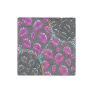 Sassy Lips Abstract Stone Magnet