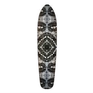 Sassy Lips Blk&Wht Bling Skate Deck