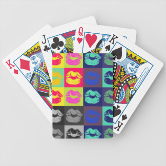 Sassy Lips Tri Colors Bicycle Playing Cards