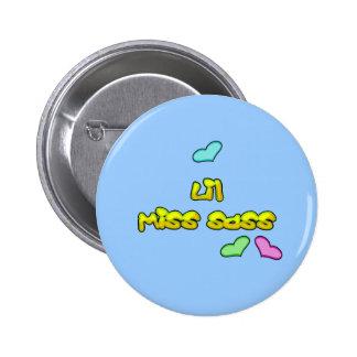 Sassy Little Hearts Button