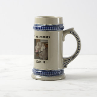 sassy, MY WEIMARANER, LOVES ME Beer Stein