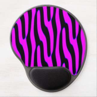 Sassy Neon Pink Wild Animal Print Gel Mouse Pads