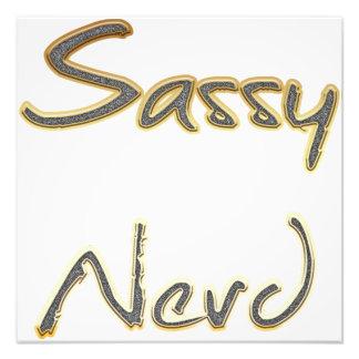 Sassy Nerd Gold Photo