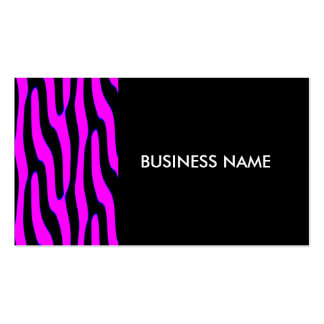 Sassy Pink Wild Animal Print Pack Of Standard Business Cards