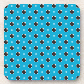 Sassy Polka Dot Coasters Set - Aqua Blue