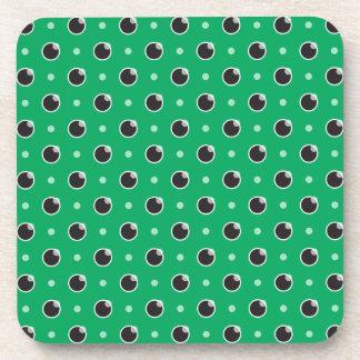 Sassy Polka Dot Coasters Set - Green