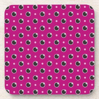 Sassy Polka Dot Coasters Set - Purple