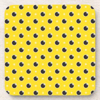 Sassy Polka Dot Coasters Set - Yellow
