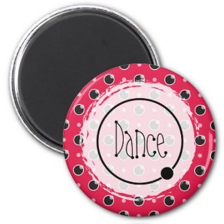 Sassy Polka Dots Dance Magnet - Berry Pink