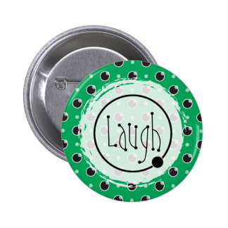 Sassy Polka Dots Laugh Button - Green
