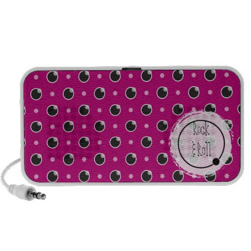 "Sassy Polka Dots ""Rock & Roll"" Speaker - Purple"