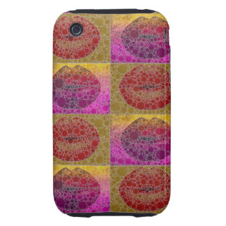 Sassy Pop Art Lips Abstract Pattern Iphone3 Case