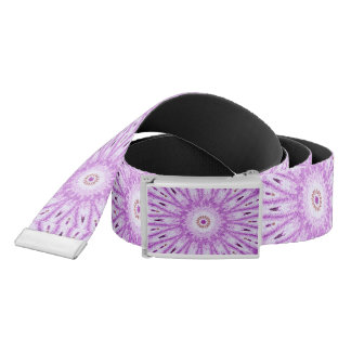Sassy Purple Starburst Reversible Canvas Belt
