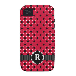 Sassy Red with Black and White Polkadots iPhone 4/4S Case