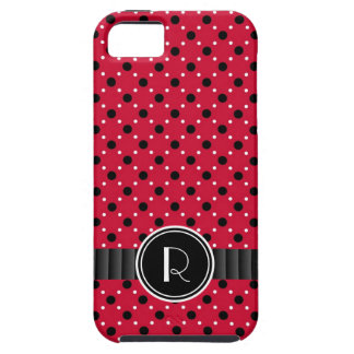 Sassy Red with Black and White Polkadots iPhone 5 Covers
