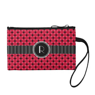 Sassy Red with Black and White Polkadots Coin Wallets