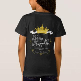 SASSY SAPPHIRES: Official 17-18 Logo on Black T-Shirt