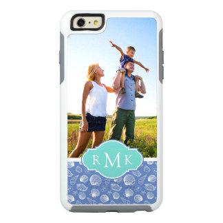 Sassy Seashell Pattern| Your Photo & Monogram OtterBox iPhone 6/6s Plus Case