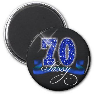 Sassy Seventy Sparkle 6 Cm Round Magnet