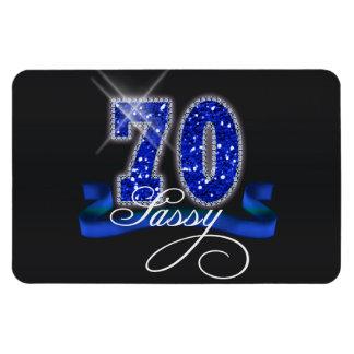 Sassy Seventy Sparkle Flexible Magnet
