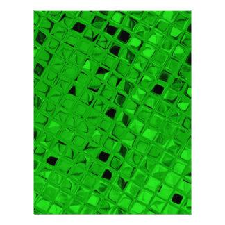 Sassy Shiny Metallic Emerald Green Diamond Flyer Design
