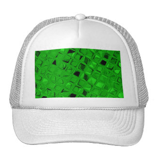 Sassy Shiny Metallic Emerald Green Diamond Hat