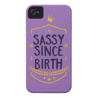 Sassy Since Birth Humourous iPhone 4 Cover