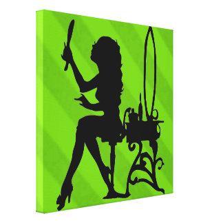 Sassy Sissy Pretty Is Key Lime Green Grunge Stretched Canvas Prints