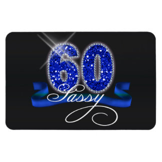 Sassy Sixty Sparkle Rectangular Photo Magnet