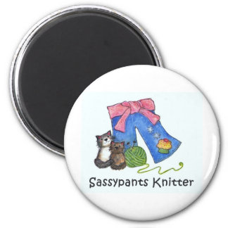 sassy swag 6 cm round magnet