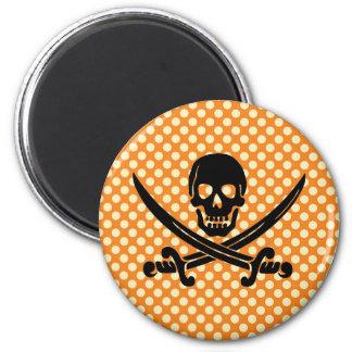 Sassy & sweet Halloween skull pirate print Fridge Magnet