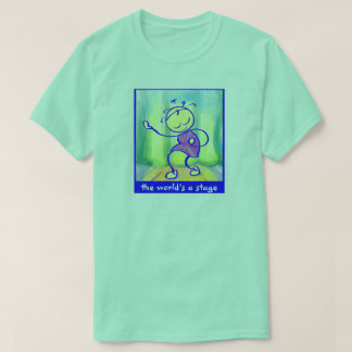 SASSY t-shirt The World Is a Stage 100% cotton