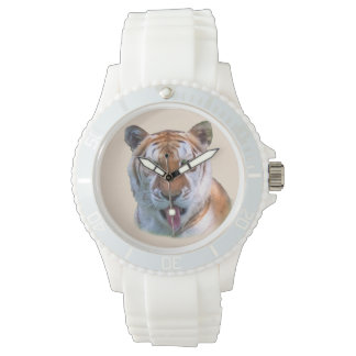 Sassy Tiger Cat Wristwatches