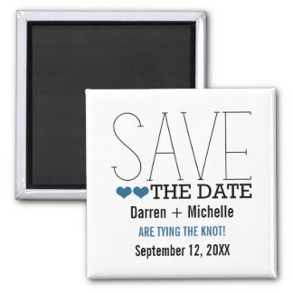 Sassy Typography Save the Date Magnet, Blue