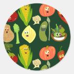 Sassy Veggies! Classic Round Sticker