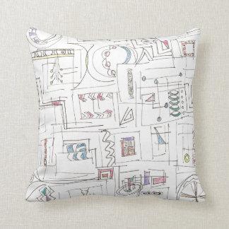 Sassy-Whimsical Pattern Print Throw Pillow