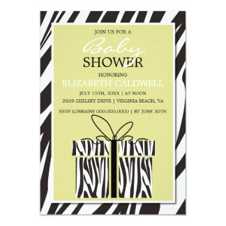 Sassy Zebra Baby Shower Invitation