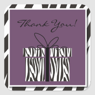 Sassy Zebra Baby Shower Thank You Stickers
