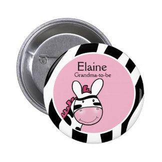 SASSY ZEBRA DIVA NAME TAG Personalized Button