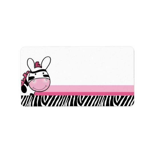 Sassy Zebra Diva Print your Own Mailing Label Address Label