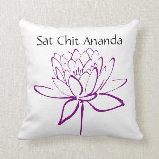 Sat Chit Ananda Purple Lotus Pillow