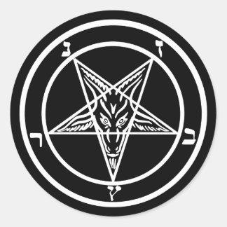 Satan Baphomet Round Sticker