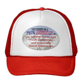 satan democrats mesh hat