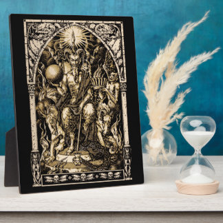 Satan Enthroned Plaque