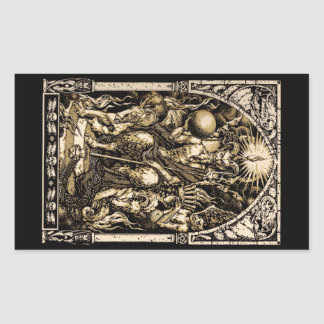 Satan Enthroned Rectangular Sticker