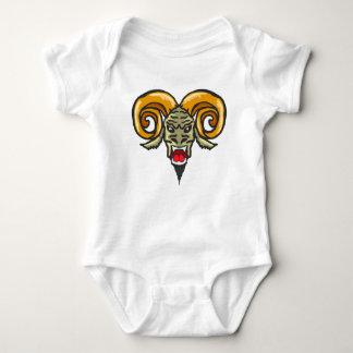 Satan Horned Beast Sketch Baby Bodysuit