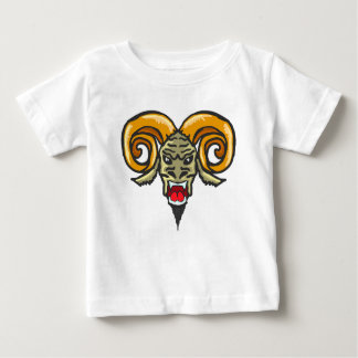 Satan Horned Beast Sketch Baby T-Shirt