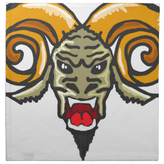 Satan Horned Beast Sketch Napkin